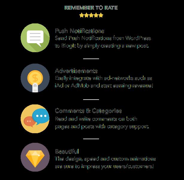 BlogIt: Premium WordPress App for iOS (Push, iPad) - 1